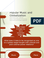 MUSIC AND GLOBALIZATION