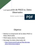 Comparación de PISCO Vs