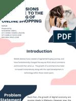 Increasing of Online Shopping