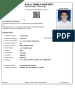 Examinationform