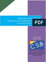 Corrigés RDM 1