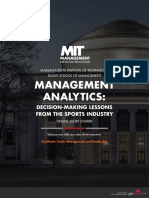 Mit Management Analytics Decision Making Lessons From the Sports Industry Online Short Course Brochure