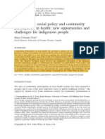 Torri. Multicultural social policy and communityparticipation in health- new opportunities andchallenges for indigenous people.pdf