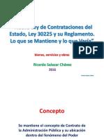 Conceptos Basicos de Contratacion Publica y Nueva LCE Ricardo Salazar Chavez 2016 Conferencia Pasco