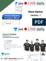 [L7] - Wave Optics - 18th Oct