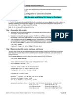 Lab - Configure ASA 5505 Basic Settings Using CLI