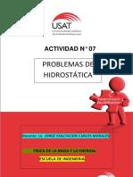 ACTIVIDAD N° 7 PROBLEMAS DE HDROSTATICA (2)