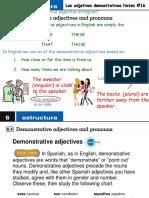 Demonstrative Adjectives Part 1