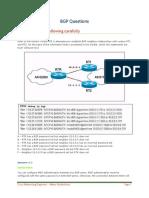 CCNP BGP Questions