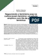 Negociando o Feminismo Pop Na Cultura Jovem Feminina-um Estudo Empírico Com Fãs de Grupos Femininos