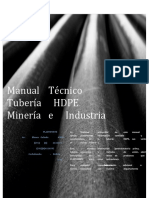 Manual Tecnico Tuberia HDPE Mineria e Industria. Rev 0