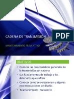 Mantenimiento Preventivo Cadena de Transmisión