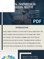 DIGITIAL INNOVATION IN FINANCIAL SECTOR