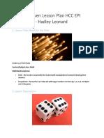 digitally driven lesson plan hcc epi technology - hadley leonard