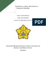Summary of Introduction to Islamic Microfinance