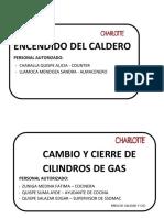 Encendido Del Caldero y Cilindros de Gas