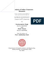 Analysis of Indian Corporate Network