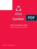 Hyperworks 2018 Hardware Recommendations and Certifications