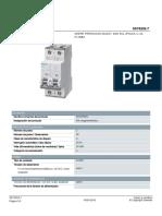 5SY62027 PIA Magnetotérmico Datasheet