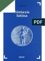 Valentí Fiol - Sintaxis Latina