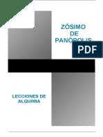 Zosimo de Panopolis Lecciones