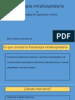 Fisioterapia intrahospitalaria