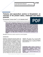 Fisheries and Aquaculture Sectors in Bangladesh- An Overview of the Present Status Challenges and Future Potential