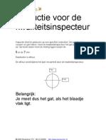 FILTERFABRIEK Instructie Voor de Kwaliteit Inspecteur (W69)