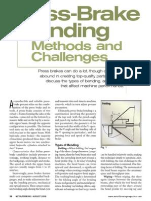 Press Brake Bending[1] | Metalworking | Building Materials