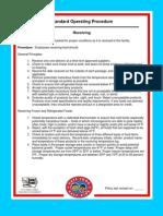 Standard Receiving Procedures
