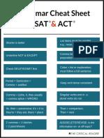 Sat Cheat Sheet Grammar