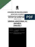 lengua adicional al español ( ingles I )