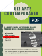 Quiz Arte Contemporânea