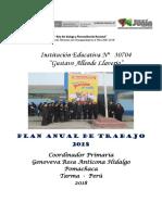 PLAN ANUAL DE TRABAJO - POMACHACA 2018