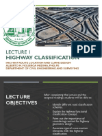 Lecture Highway Classifications