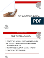 Relacion Ayuda Cáritas Madrid