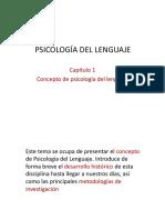 Capítulo 1 Concepto de psicología del lenguaje