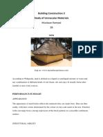 BC assignment 1 Vernacular Materials 1st August 2019
