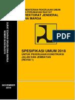 Lampiran SE DJBM 06 2019 Spesifikasi Umum 2018 Revisi 1 Edit Ttd (1)