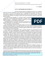 Davidov -O Que é Atividade de Estudo?