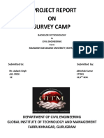 A PROJECT REPORT on Survey Camp