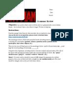 ant man grammar review worksheet