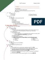 Civil Procedure Answer Outline PDF