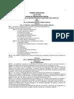 Código de Organización Judicial - Ley 879 de 1.981 - Paraguay