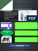 NEPOTISMO ARTICULO DE OPINION.pptx