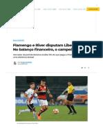 Flamengo e River Disputam Libertadores. No Balanço Financeiro, o Campeão é Claro.