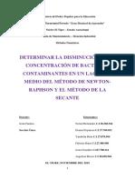 Determinar La Disminución de La Concentración de Bacterias Contaminantes en Un Lago Mediante El Método de Newton-Raphson y de La Secante