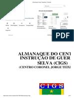 Almanaque Cigs _ Sargento _ Tenente