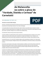 """Alexandre Morais da Rosa - Fragmento de Melancolia. Aproximações sobre a glosa de """"Verdade, Dúvida e Certeza"""" de Carnelutti.pdf"""