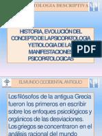 Historia y evolución de la psiquiatria.